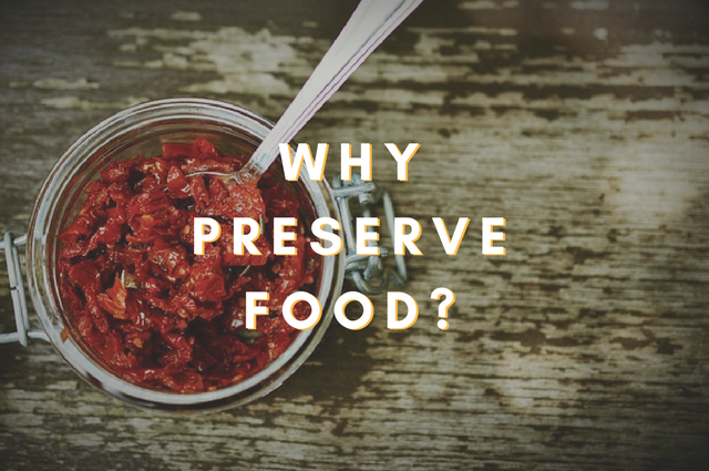 Why Preserve Food