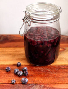 Blueberry Preserved In Alcohol