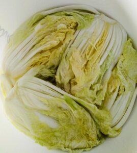 Chinese Leaf Kimchi Brining