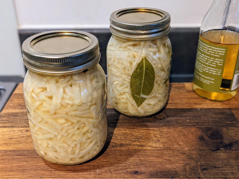 Pickled celeriac