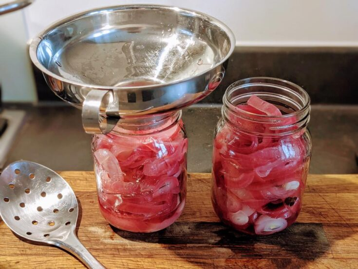 Canning Pickled Pink Onions
